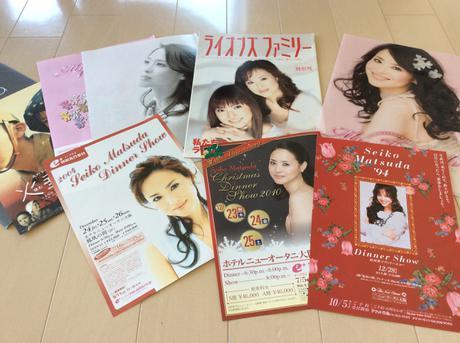 松田聖子広告とクリアファイル コンサートグッズの画像
