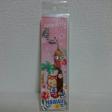 ハワイ限定 ハロー キティ ストラップ グッズの画像