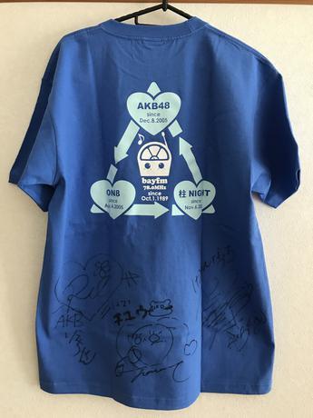 新品 AKB48 直筆サイン入りTシャツ 北原里英 佐藤夏希 河西智美 ライブ・総選挙グッズの画像