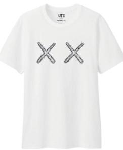 ハピネス着用 KAWS TシャツS (新品)