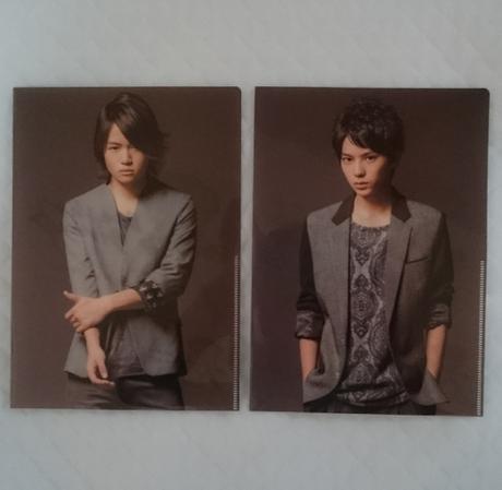 2枚組☆男 never give up クリアファイル コンサートグッズの画像