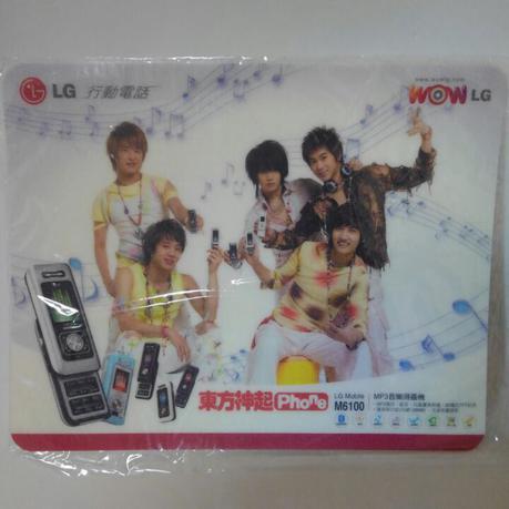 東方神起 WON LG非売品 マウスパッド ライブグッズの画像