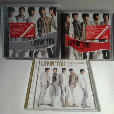 東方神起 Lovin you  初回、Bigeast限定CD、CD+DVD ライブグッズの画像