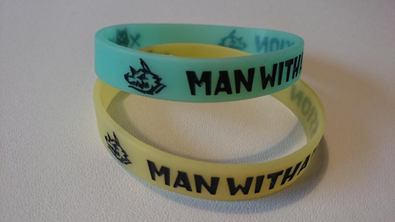 【出品期限あり】MAN WITH A MISSION 初期ラバーバンド2本セット ライブグッズの画像