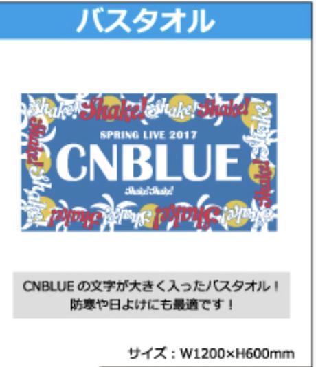 CNBLUE SHAKE ツアーグッズ    バスタオル ライブグッズの画像