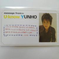 東方神起ユノ激レア 名刺交換会、メッセージカード、CD ライブグッズの画像 3枚目