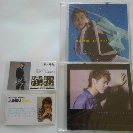 JYJジュンス激レア 名刺交換会、メッセージカード タッチ会限定CD ライブグッズの画像