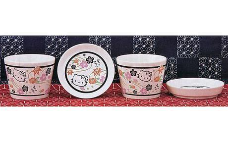 ハローキティー つゆ小鉢&やくみ小皿セット(黒) グッズの画像