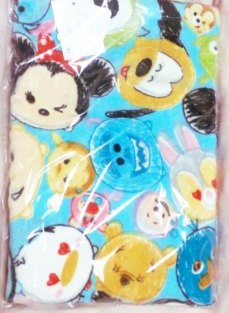 Disney(ディズニー) ツムツム 大判バスタオル ブルー ディズニーグッズの画像