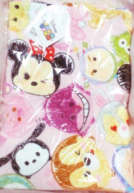 Disney(ディズニー) ツムツム 大判バスタオル ピンク ディズニーグッズの画像