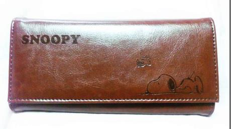 SNOOPY(スヌーピー)型押しウォレット(長財布) グッズの画像