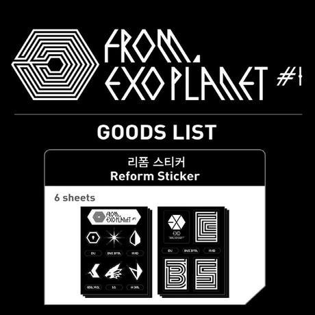 EXO (エックソ) ステッカー Reform Sticker ライブグッズの画像