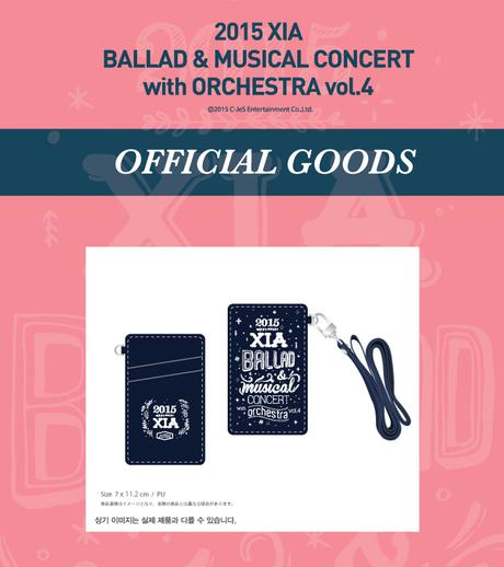 JYJ 2015 XIA BALLAD MUSICAL CARD CASE ライブグッズの画像