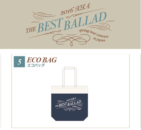 JYJ 2016 XIA THE BEST BALLAD Eco Bag ライブグッズの画像