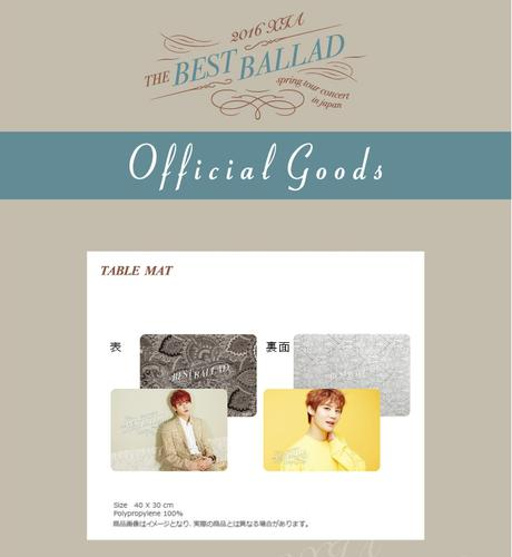 JYJ 2016 XIA THE BEST BALLAD TABLE MAT ライブグッズの画像