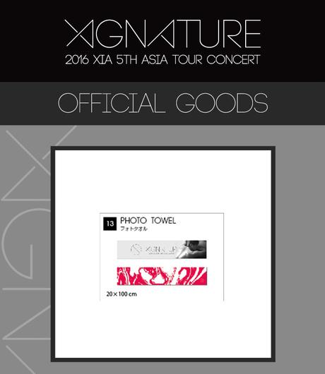 JYJ 2016 XIGNATURE XIA Photo Towel ライブグッズの画像