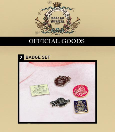 JYJ 2016 XIA BALLAD MUSICAL Badge Set ライブグッズの画像