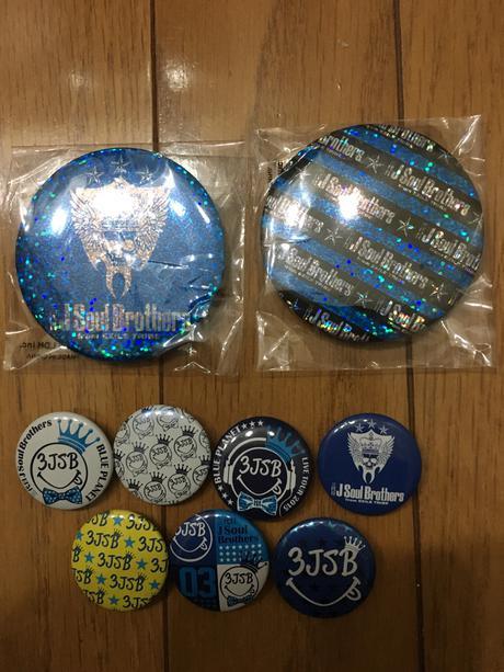 三代目 J Soul Brothers BLUE PLANET 缶バッジ9個 ライブグッズの画像