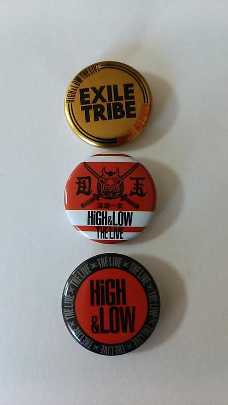 HiGH&LOW LIVE 缶バッチ ライブグッズの画像