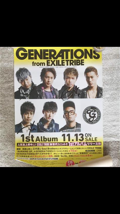 3名直筆サイン入り【GENERATIONS from EXILE TRIBE 】 ライブグッズの画像