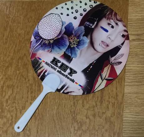 うちわ SHINee シングル『sherlock』KEY ライブグッズの画像