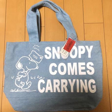 [新品未使用]スヌーピー トートバッグ グレー グッズの画像