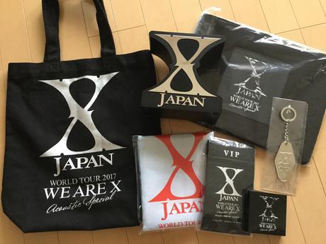 XJAPAN WORLD TOUR 2017 プラチナグッズ ライブグッズの画像