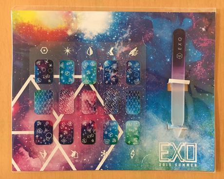 """EXO """"a-nation 2015"""" ネイルシール ライブグッズの画像"""