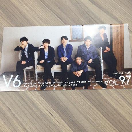 V6  2015.AUGUST VOL.97 会報 【美品】