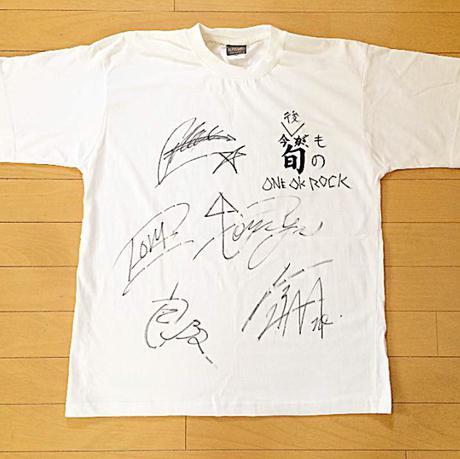 【レア】 ONE OK ROCK 直筆 サイン Tシャツ ライブグッズの画像