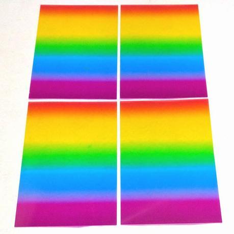 虹色サイリウムシート  (2本分・4枚セット) ライブ・握手会グッズの画像