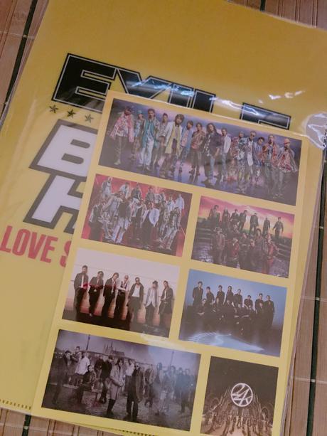 EXILE Best hits 付録ファイル➕シール ライブグッズの画像