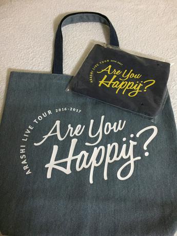 嵐Are You Happy? ショッピングバック&ポーチ コンサートグッズの画像