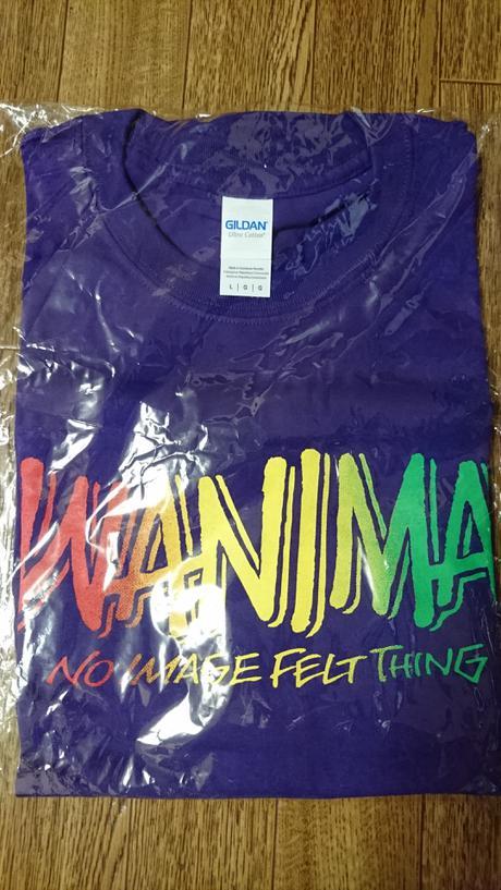 WANIMA Tシャツ L 紫 ライブグッズの画像