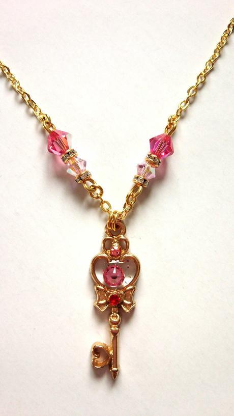 美少女戦士セーラームーン時空の鍵風ネックレス*ちびうさ*セーラーちびムーン グッズの画像