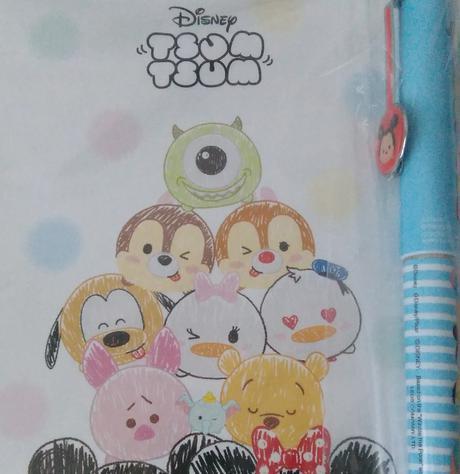 ツムツム文房具セット(ボールペン・ポストカード・一筆箋) ディズニーグッズの画像