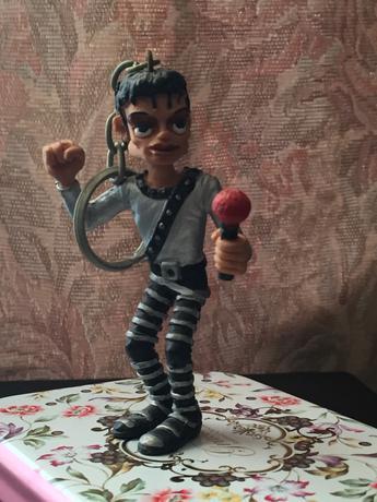 マイケルジャクソン BAD 歌うマイケルキーチェーン ライブグッズの画像