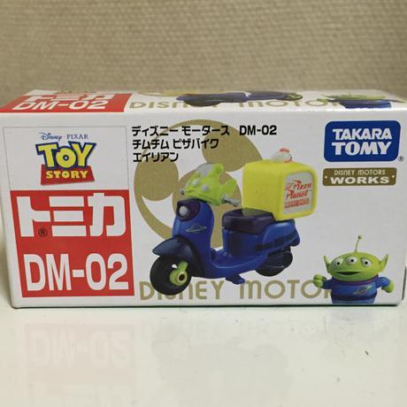 トミカ ディズニーモータース DM-02  チムチムピザバイク エイリアン グッズの画像