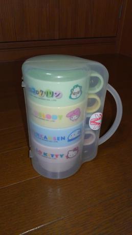 ハローキティーマグカップ4個セット グッズの画像