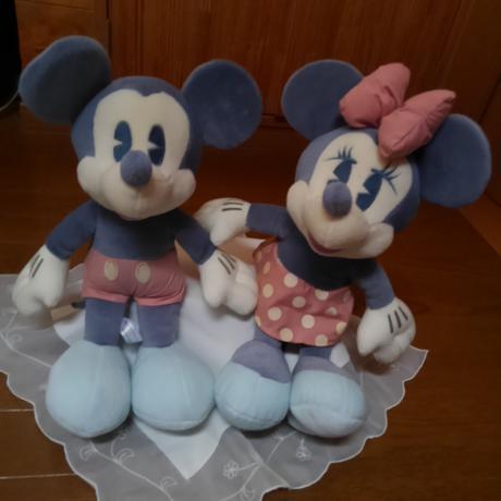 ミッキ-&ミニ-のぬいぐるみ ディズニーグッズの画像