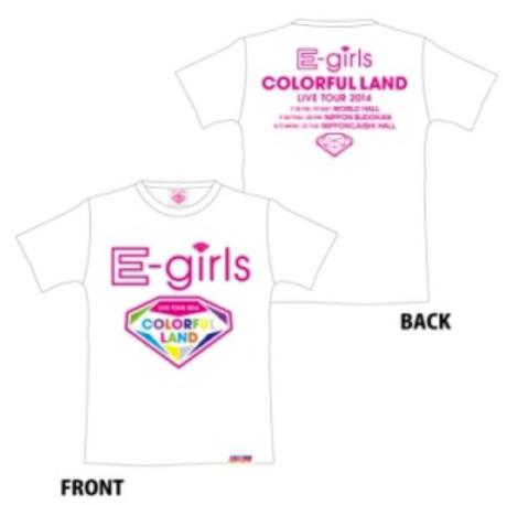 E-girls colorful world Tシャツ 白