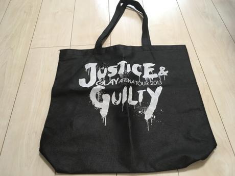 GLAY/JUSTICE & GUILTY/ライブグッズ(ショッピングバッグ) ライブグッズの画像