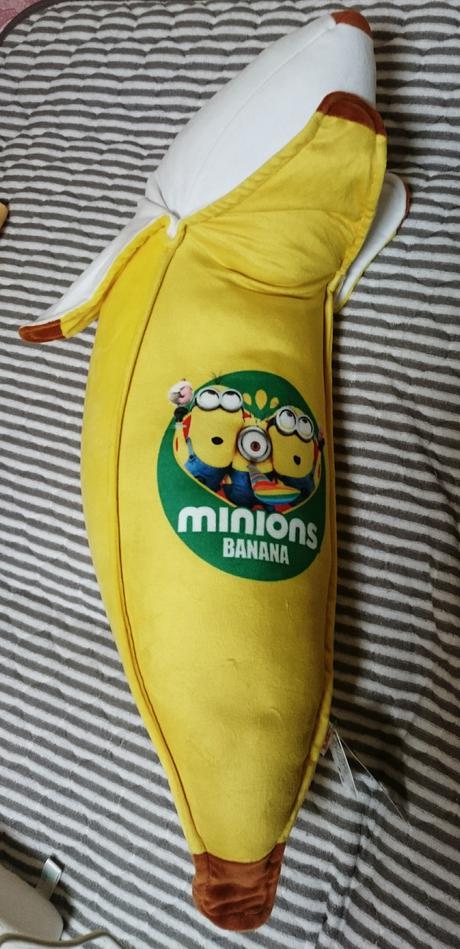 ミニオン非売品BIGバナナ もちもちクッション タグ付き グッズの画像