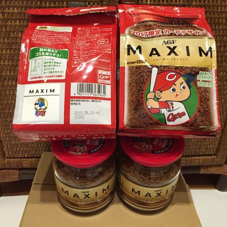 コメント必須 カープ マキシムコーヒー ボトル2本と詰替用2袋  送料別途です グッズの画像