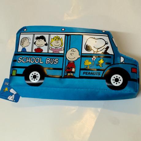 スヌーピー  ペンケース バス 青 グッズの画像