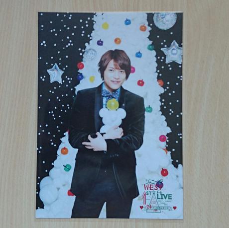 ジャニーズWEST 中間淳太 24から感謝届けます 24魂 クリスマスカード コンサートグッズの画像