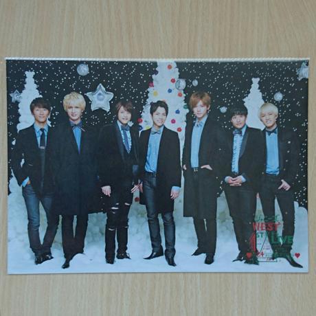 ジャニーズWEST 24から感謝届けます 24魂 クリスマスカード 集合 コンサートグッズの画像