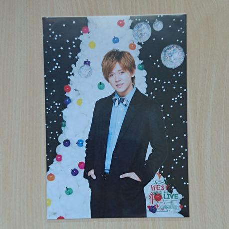 ジャニーズWEST 小瀧望 24から感謝届けます 24魂 クリスマスカード コンサートグッズの画像