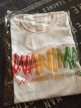 WANIMA白Tシャツ ライブグッズの画像
