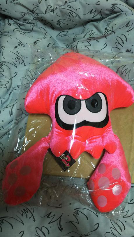 スプラトゥーン2 イカクッション ピンク グッズの画像